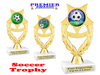 """Soccer trophy.  6"""" Soccer trophy with choice of artwork. PH97"""