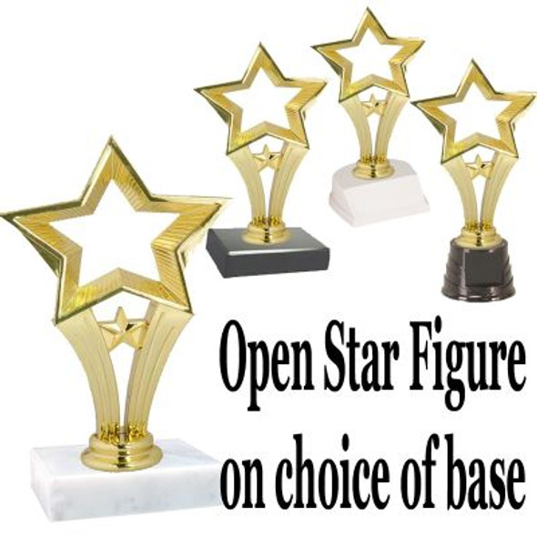 """6.5"""" Open Star on choice of base"""
