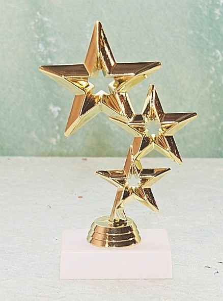 Triple Star Trophy with choice of bases.  (TR-5061)