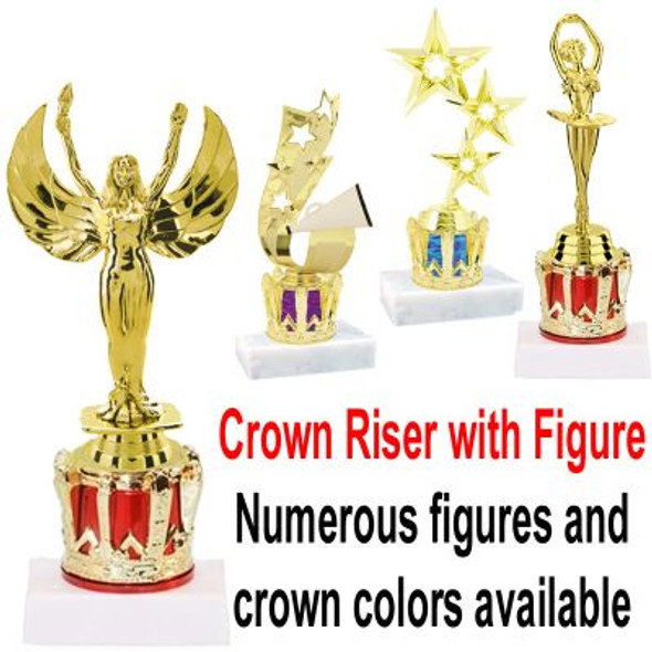Choice of figure on Crown base.   TR-100-M