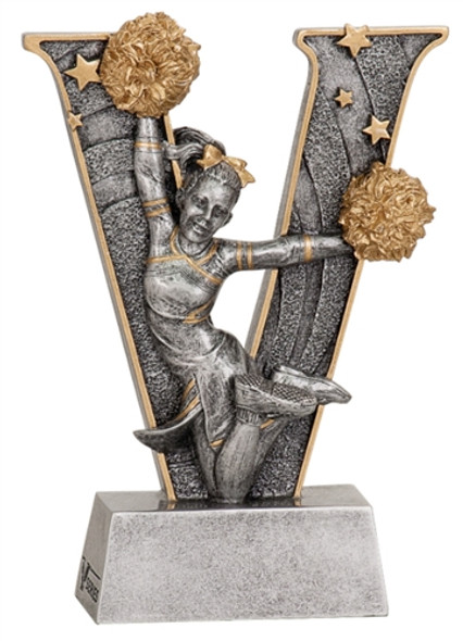 """5"""" Resin Cheer Trophy   DISCONTINUED"""