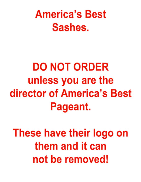 America's Best Sashes - 60""