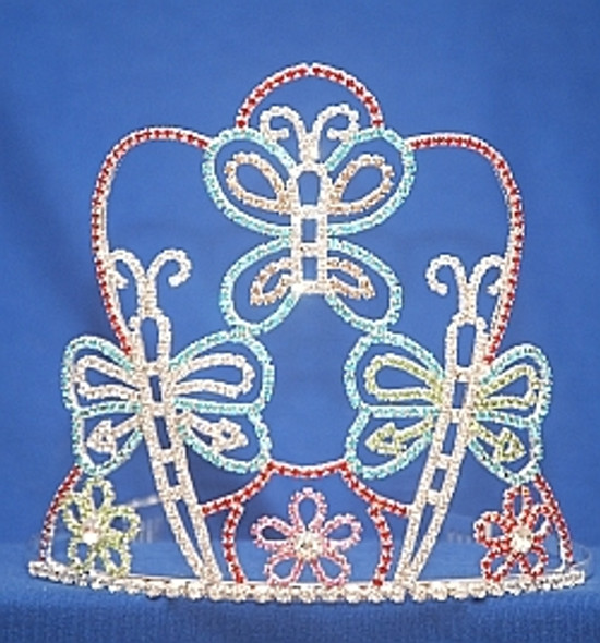 """Butterfly and Dragonfly crown  6"""" tall  (JD-632  d51)"""