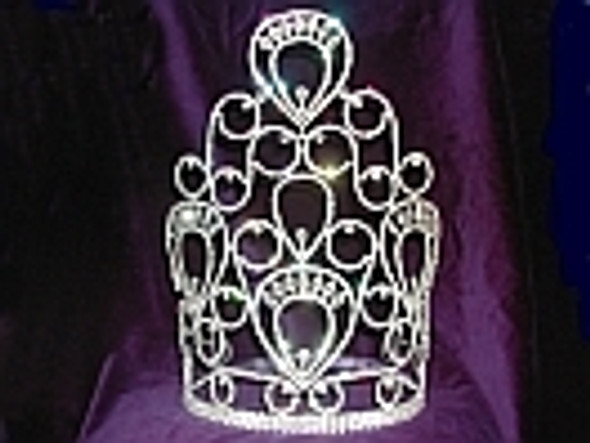 """Beautiful 10"""" crown with adjustable band   jd-4922-10"""