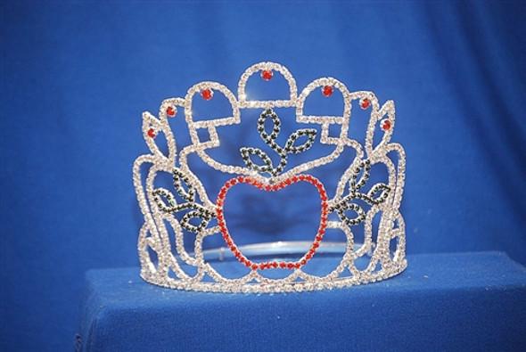 "5"" apple tiara with adjustable band"