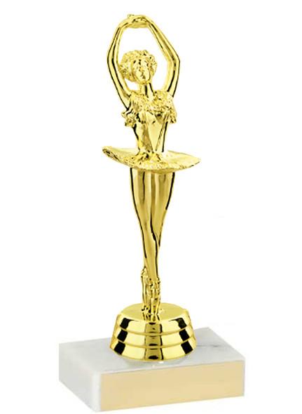 "5 1/2"" Ballerina Dance Trophy - Quantity discounts available"