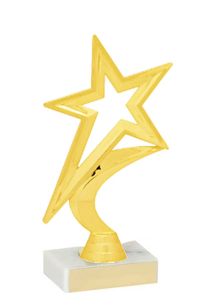 "6.5"" tall Gold  Star figure on base  (fig5000)"