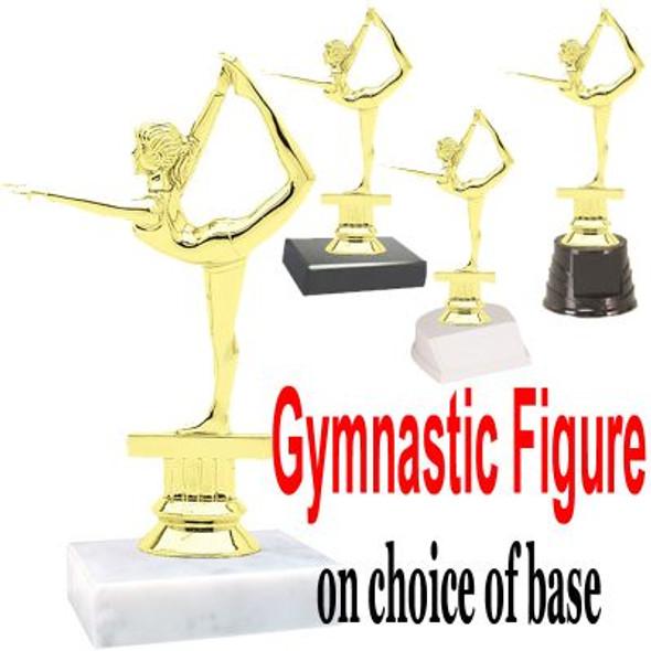 "5 1/2""  Gymnastic figure on choice of base.  (TR-2301)"