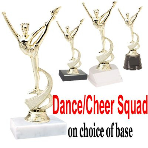 """7"""" Dance/Cheer Squad figure on choice of base  (TR-MF4536)"""