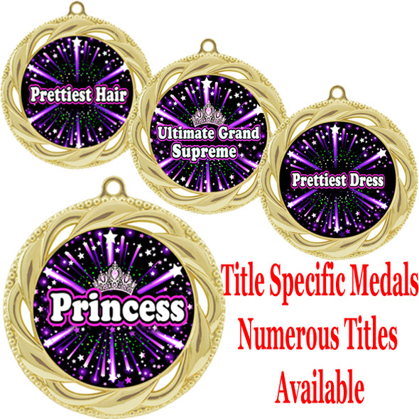 Medal with Title Specific insert.  Numerous titles available.  (m-hr938)