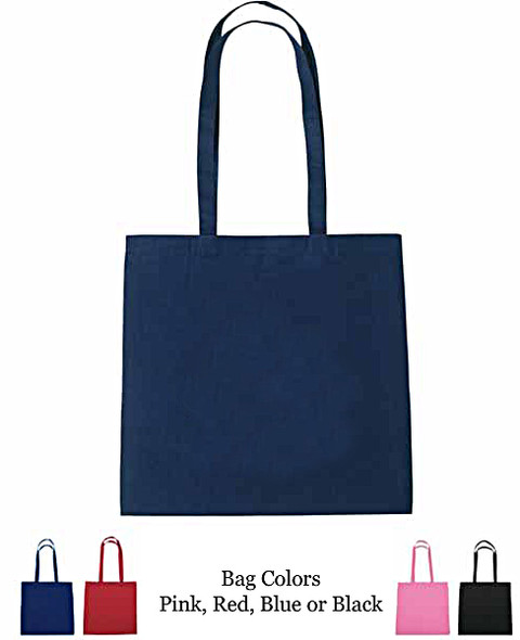 Heart with Crown Tote Bag.  Choice of Hologram and tote bag colors!