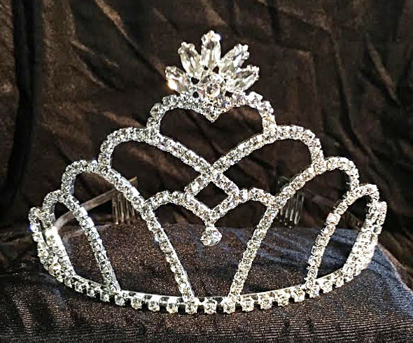 """3.5"""" tall crown with side combs  (CC-1032-SC"""