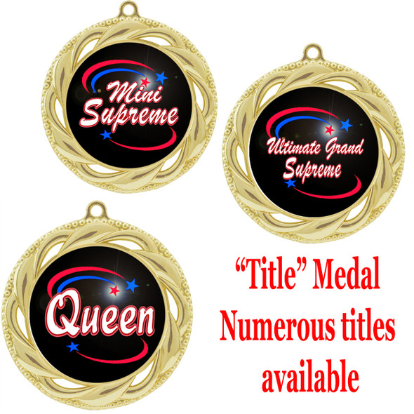 "2 3/4"" Title Specific Medal.  Numerous titles available.  Includes free engraving and neck ribbon (938)"