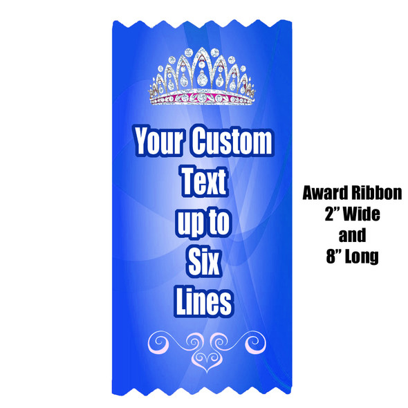 "Custom Full Color Award Ribbons.  Customize with your text.  2"" wide x 8"" long."