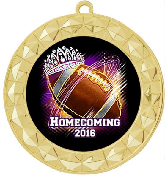 Homecoming Theme Medal.  Includes free back of medal engraving and neck ribbon  (935g2)