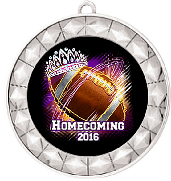 Homecoming Theme Medal.  Includes free back of medal engraving and neck ribbon  (935S2)