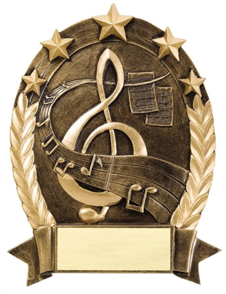 """6 1/4""""  tall Resin Music Trophy"""