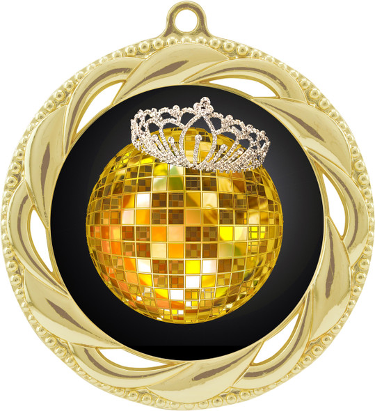Disco Theme Medal.  Includes free back of medal engraving and neck ribbon  (938g)