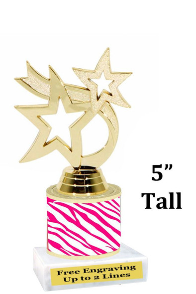 """5"""" tall trophy with choice of color.  Great for side awards and participation.  (190-g)"""