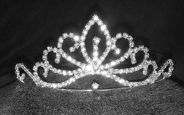 """Petite tiara.  1.5"""" tall.  No side combs."""