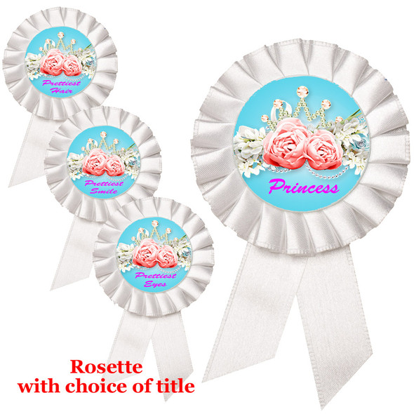 Rosette with choice of title