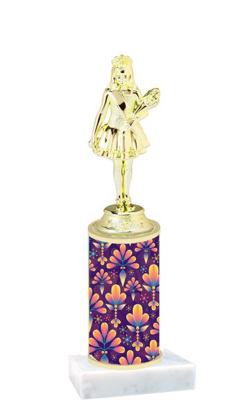 Abstract  pattern  trophy with choice of trophy height and figure (009