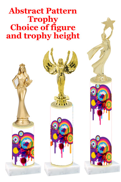 Abstract  pattern  trophy with choice of trophy height and figure (012