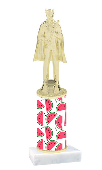 Watermelon  pattern  trophy with choice of trophy height and figure (021