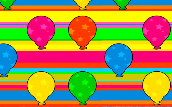 Balloons  pattern  trophy with choice of trophy height and figure (024
