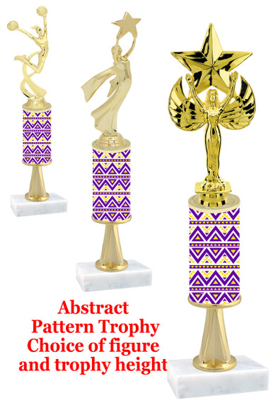 Abstract  pattern  trophy with choice of trophy height and figure (042stem