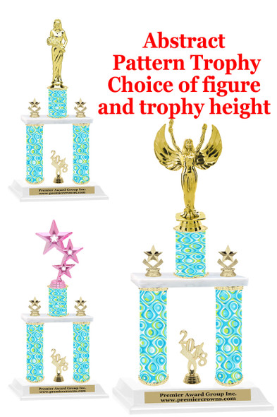 Abstract  2-Column trophy.  Numerous trophy heights and figures available  (002)