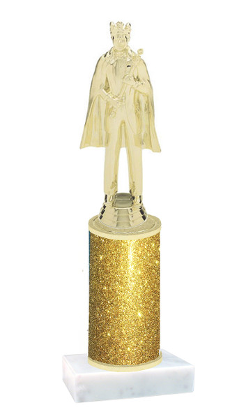 Glitter Column trophy with choice of glitter color, trophy height and base.  King
