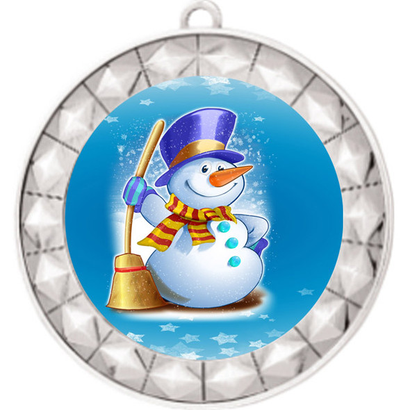 Snowman theme medal..  Includes free engraving and neck ribbon.   (935s