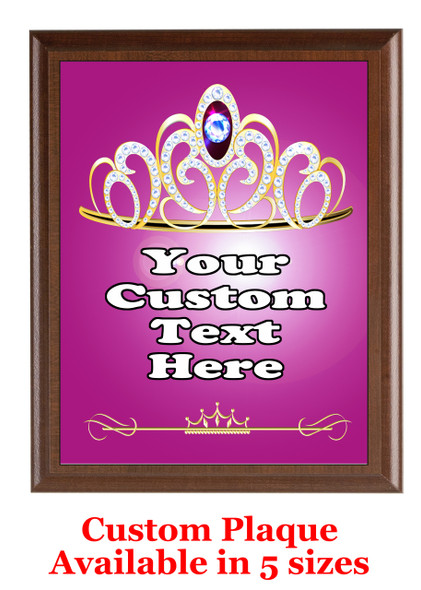 Custom Full Color Plaque.  Brown plaque with full color plate.  5 Plaques sizes available - pag006