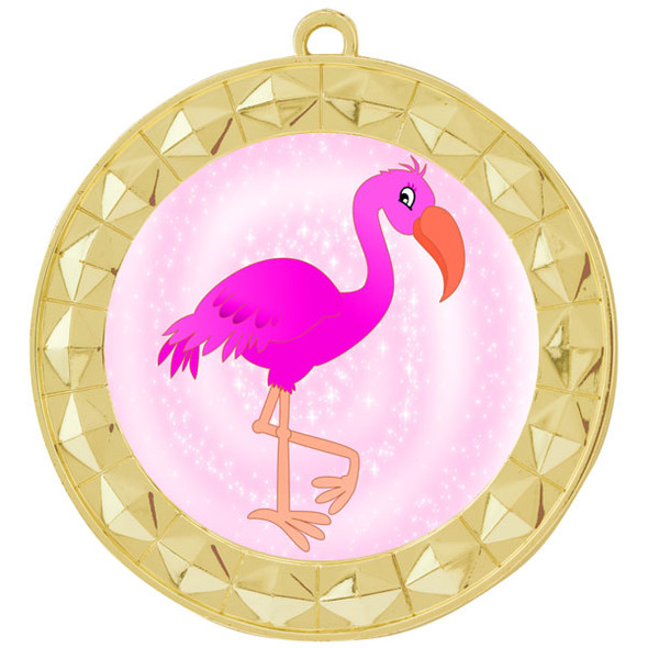 Flamingo theme medal.  Includes free engraving and neck ribbon.  (Flamingo - 935g