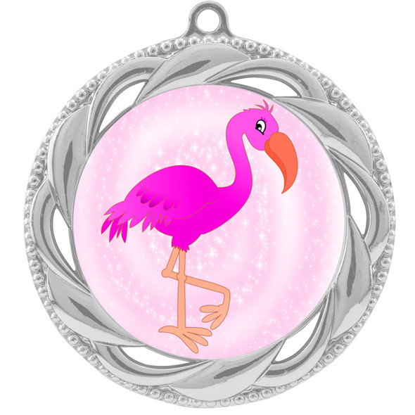 Flamingo theme medal.  Includes free engraving and neck ribbon.  (Flamingo - 938s