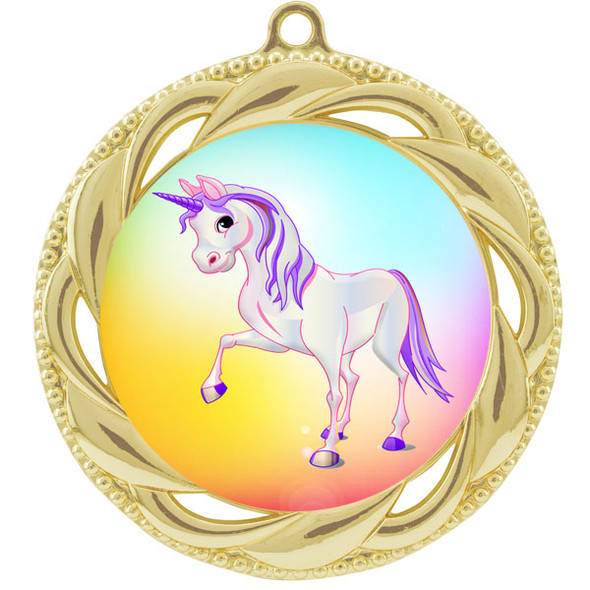 Unicorn theme medal.  Includes free engraving and neck ribbon.  (Unicorn 938g