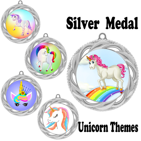 Unicorn theme medal.  Includes free engraving and neck ribbon.  (Unicorn 938s