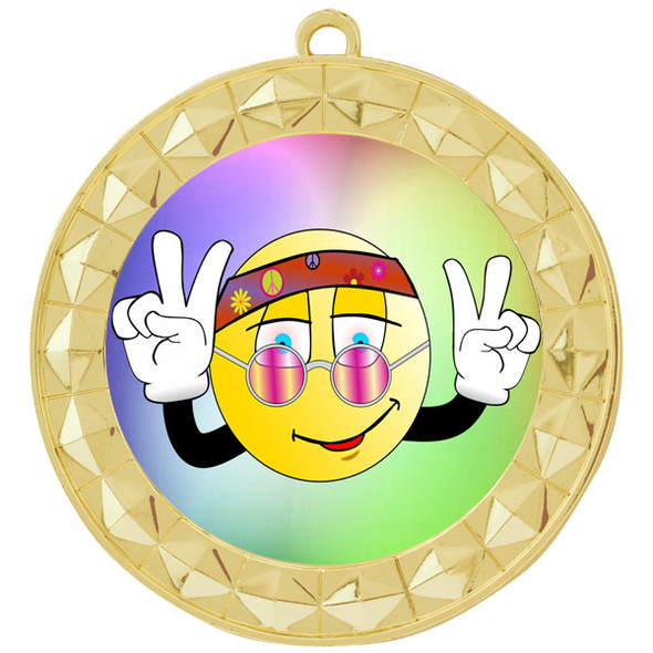 Peace theme medal.  Includes free engraving and neck ribbon.  (Peace 935g
