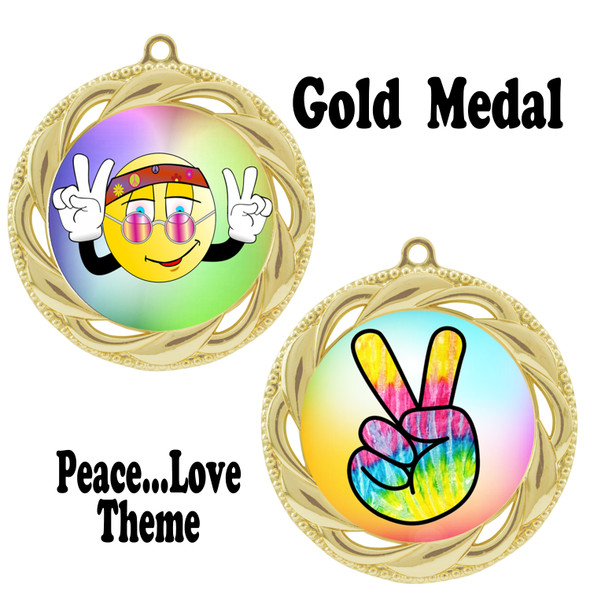 Peace theme medal.  Includes free engraving and neck ribbon.  (Peace 938g