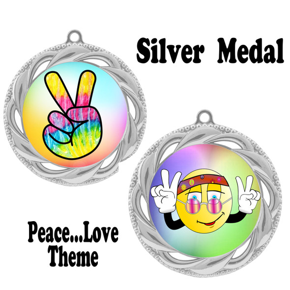 Peace theme medal.  Includes free engraving and neck ribbon.  (Peace 938s