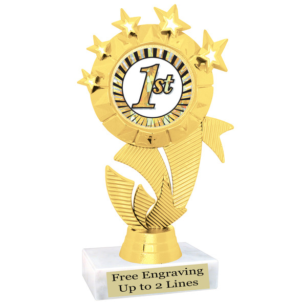 "Clearance - Discontinued   6"" trophy.  Quantities are limited.  (ph48c"