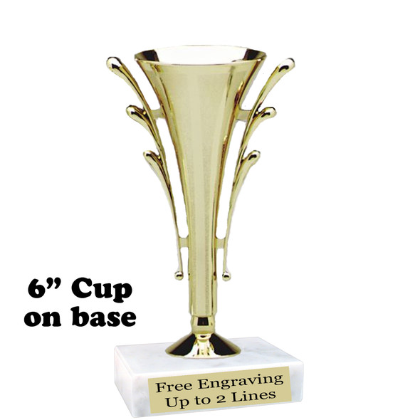 "CLEARANCE 6"" Cup Trophy.  Quantities limited."