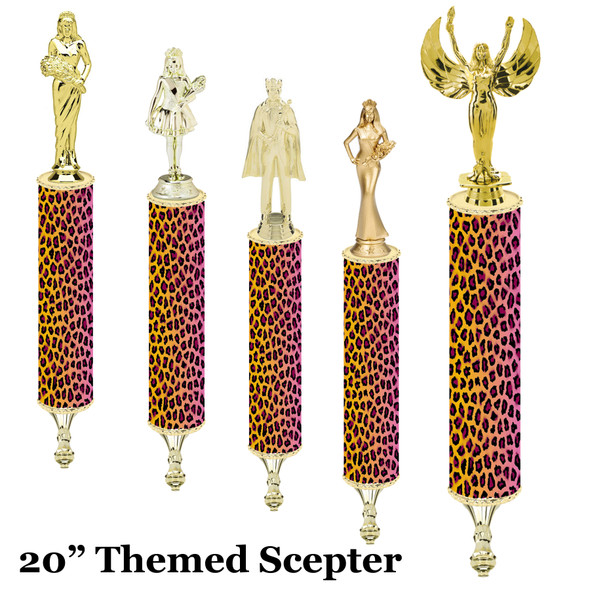 """Scepter!  20"""" tall with choice of figure.   (001"""