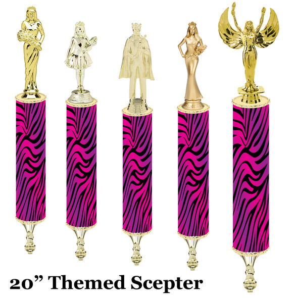"""Scepter!  20"""" tall with choice of figure.   (003"""