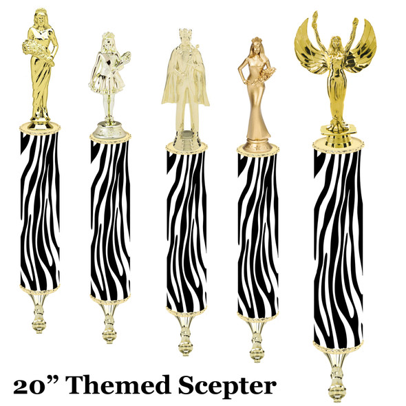 """Scepter!  20"""" tall with choice of figure.   (004"""
