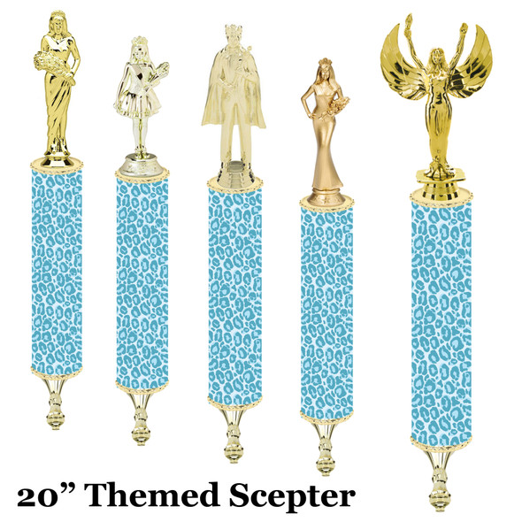 """Scepter!  20"""" tall with choice of figure.   (006"""