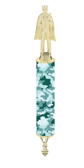 """Camo Scepter!  20"""" tall with choice of figure.   (002"""
