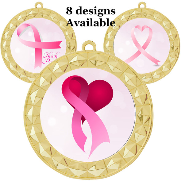 Gold Awareness Themed Medal.  Choice of art work and free neck ribbon color.  935G