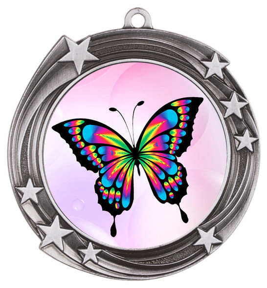 Butterfly theme medal with choice of 8 artwork designs.  930S